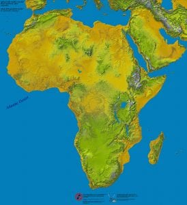 Physical & Vegetation Map of Africa